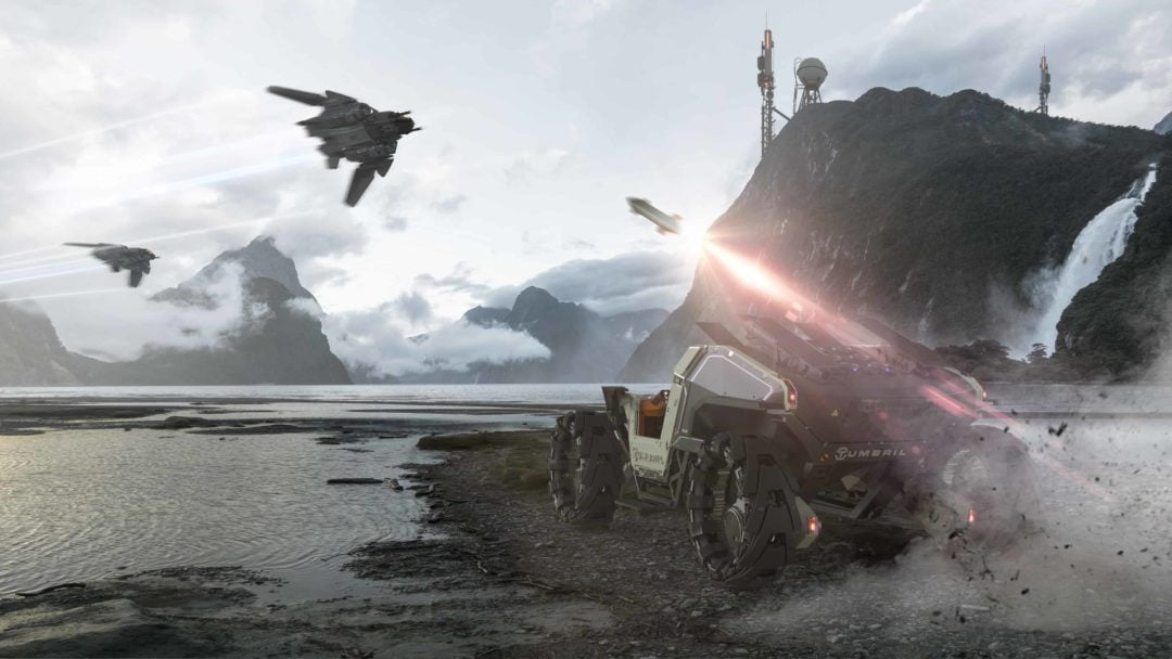 Star Citizen Gets New Trailers Showing Planetary Landing And New Starships and Vehicles