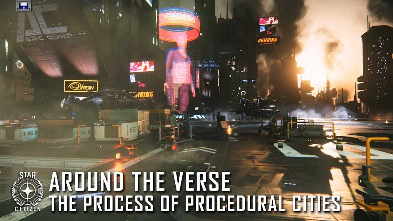 "Star Citizen's ""Around the Verse"" on the tech behind procedural cities"