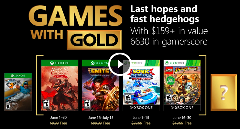 Games with Gold June 2018