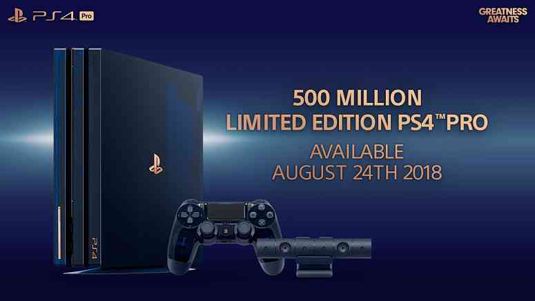 Sony announces Limited Edition PS4 Pro to celebrate 500 million Playstation consoles sold
