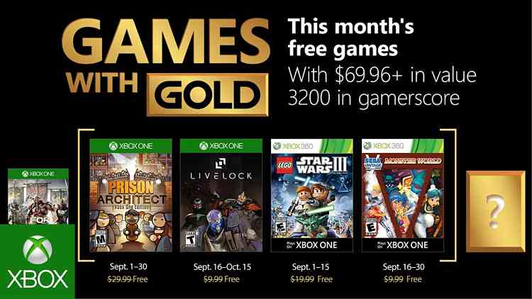 Xbox Games with Gold September 2018 lineup features Lego Star Wars III