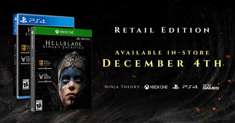 Hellblade: Senua's Sacrifice to get retail release on PS4 and Xbox One