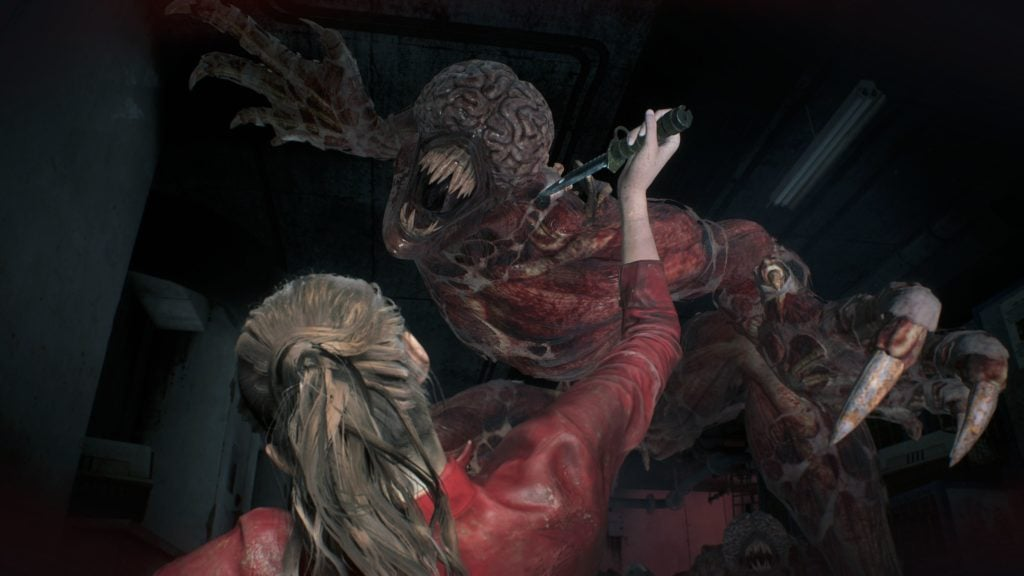 Resident Evil 2 remake shows more Lickers in gory new trailer