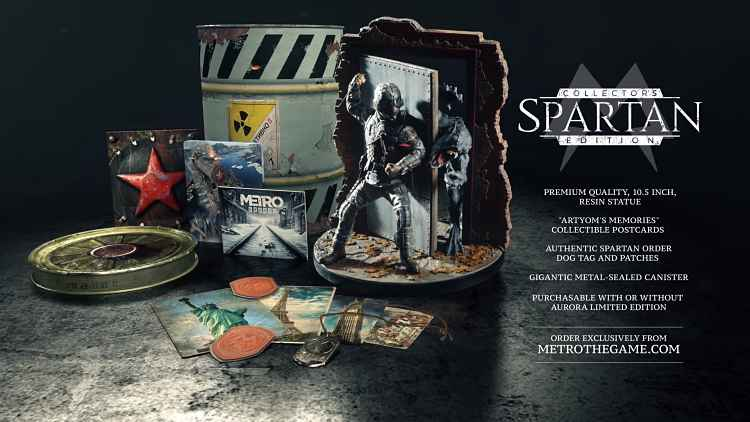 Metro Exodus has yet another special edition the Spartan Collector's Edition