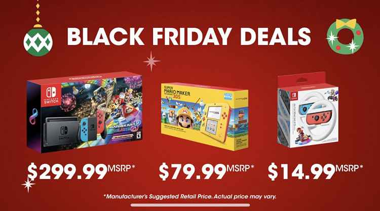Nintendo unveils Black Friday deals on Switch and 2DS