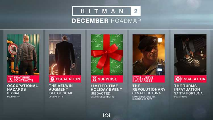 Hitman 2 December Content Roadmap