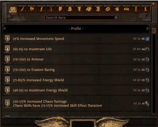 path of exile crafting bench