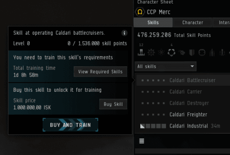 EVE Online Skill Buying Changes