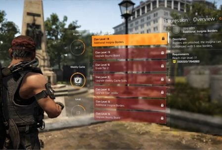Division 2 Clan Levels