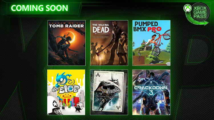 Xbox Game Pass February 2019 Shadow of the Tomb Raider and Batman: Return to Arkham