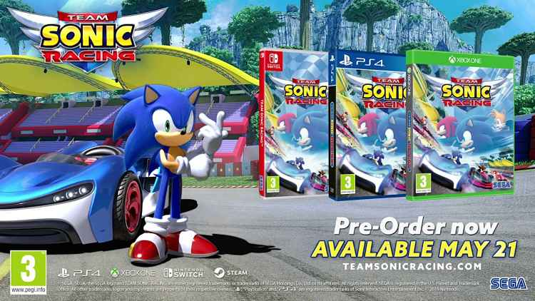 Team Sonic Racing shows off teams, customization and more in new trailer