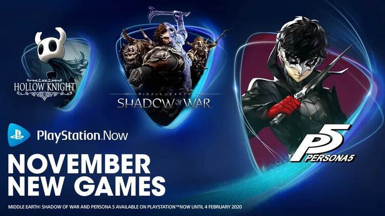 PlayStation Now adds Persona 5, Hollow Knight, and Shadow of War