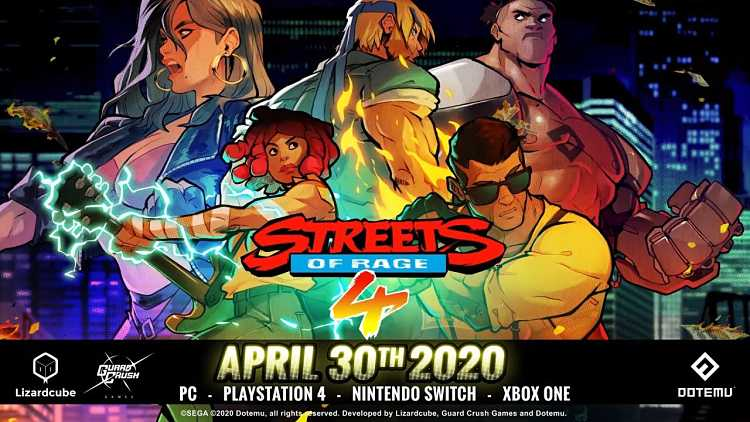 Streets of Rage 4 releases April 30th, gets new trailer