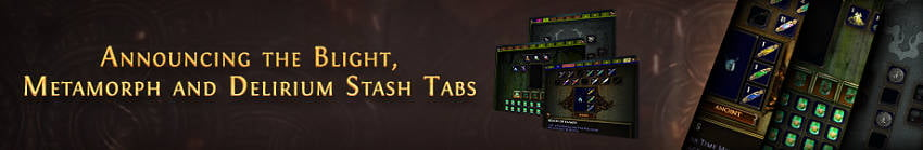 Path of Exile announces three new League Item Stash Tabs