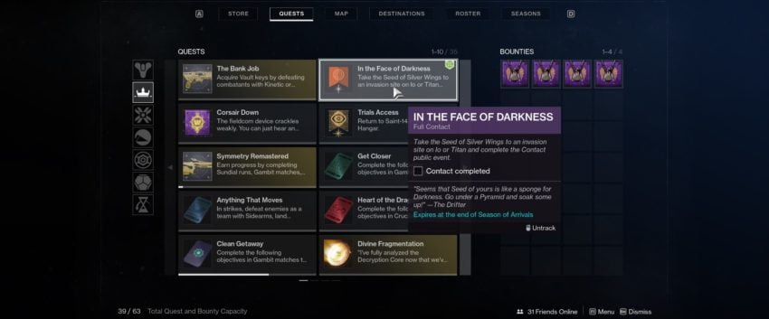 In the Face of Darkness guest guide – Destiny 2
