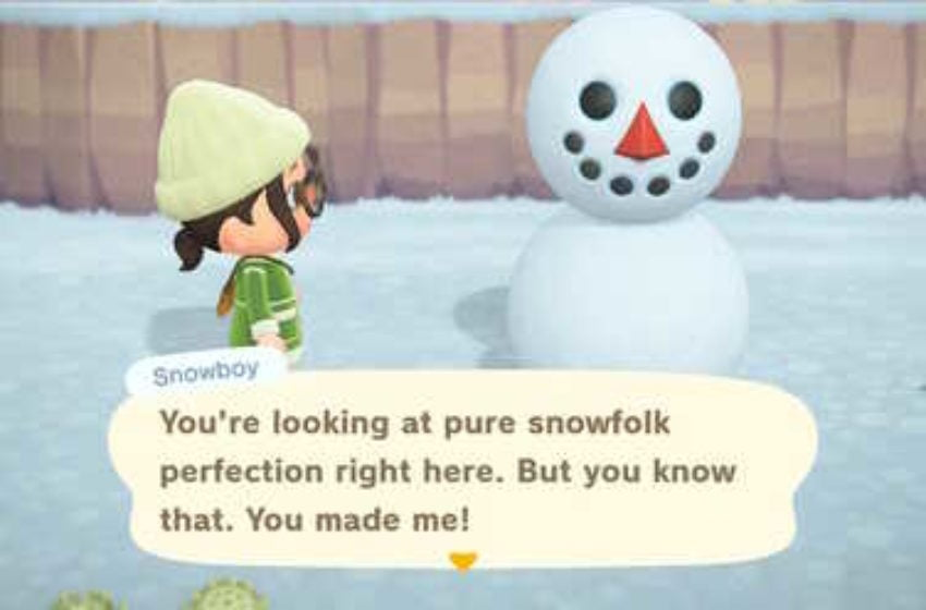 How to build a perfect snowboy in Animal Crossing: New Horizons
