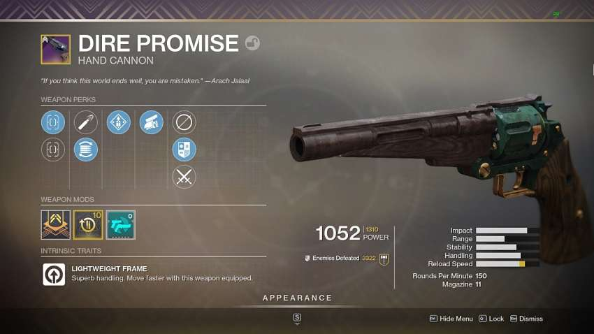 Destiny 2 Dire Promise Guide - How To Get It And Best Rolls