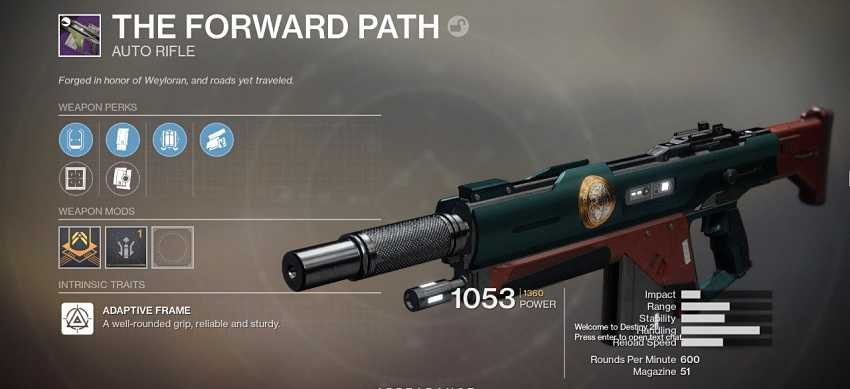 Destiny 2 The Forward Path Guide – How to Get The Forward Path