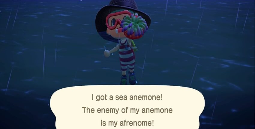 List of all Animal Crossing: New Horizons Sea Creatures