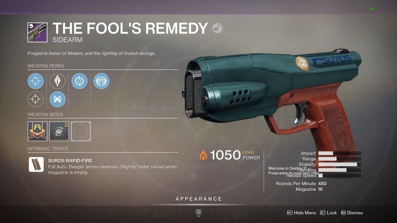 How to get Fool's Remedy in Destiny 2 - Best Rolls