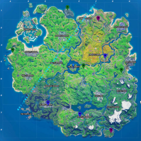 All XP Coin Locations Fortnite Chapter 2 Season 4 Week 2