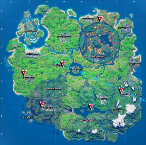 All Gorger and Gatherer spawn locations in Fortnite Chapter 2 Season 4