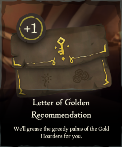 What is a Letter of Recommendation in Sea of Thieves?