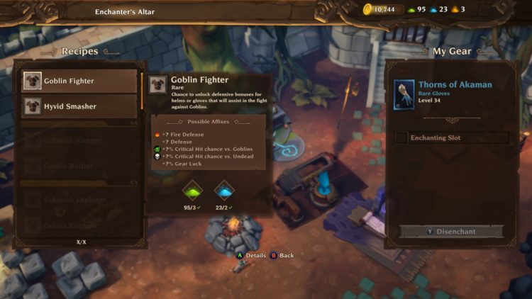 Torchlight 3 Enchantment guide