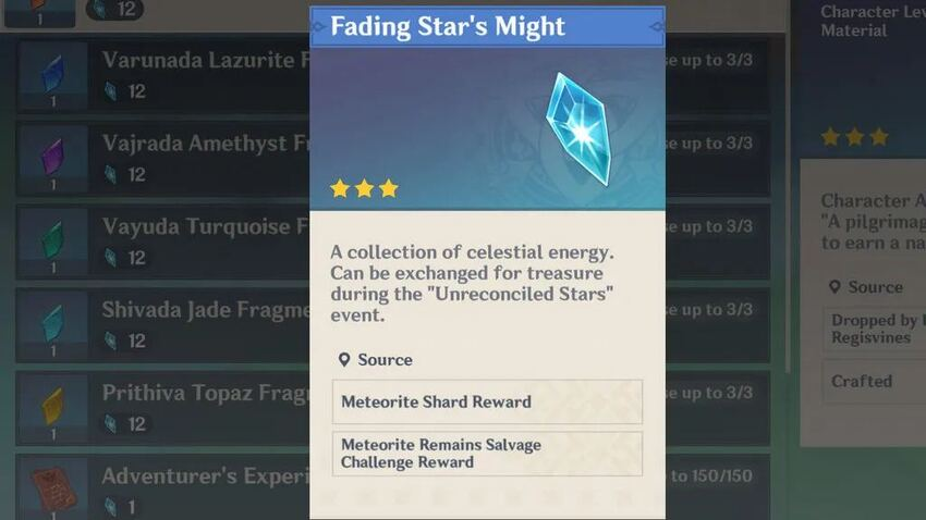How to get Fading Star's Might in Genshin Impact