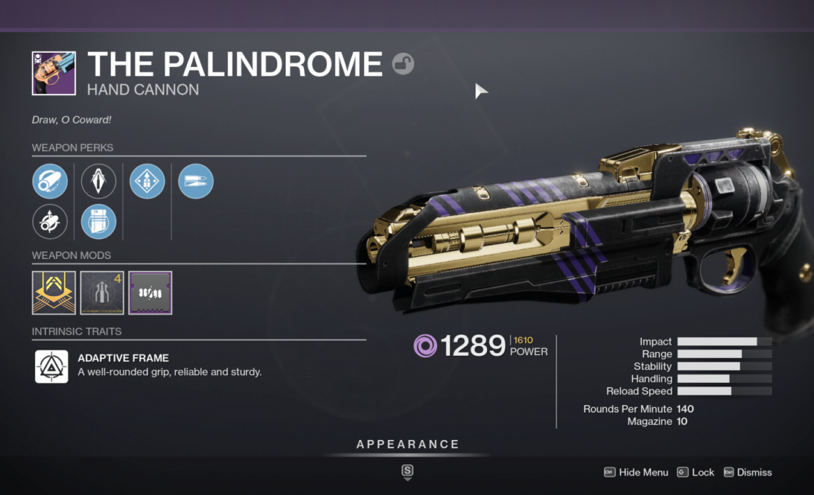 Guide to the Palindrome in Destiny 2