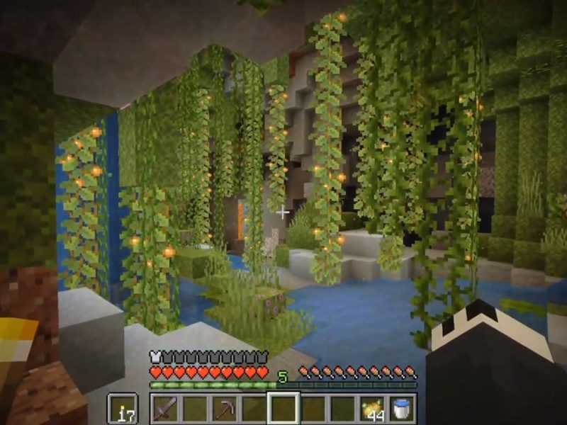 Minecraft Snapshot 21w10a adds Lush Cave biome